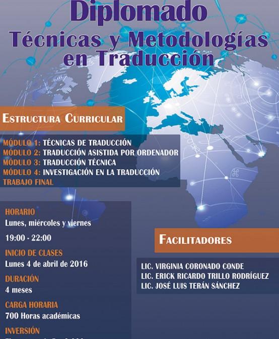Diplomado en Técnicas y metodologías en la traducción textos.