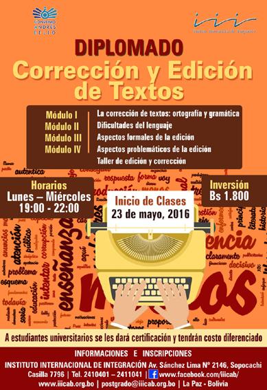 Diplomado Corrección y Edición de Textos