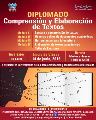 Diplomado en comprensión y elaboración de textos