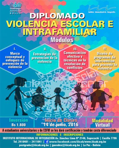 Diplomado Violencia Escolar e Intrafamiliar