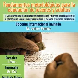 Curso-fundamentos metodologicos para la educacion de jovenes y adultos