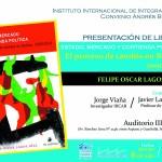 """PRESENTACIÓN DE LIBRO """"Estado, mercado y contienda política. El proceso de cambio en Bolivia 2000-2014"""""""