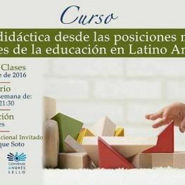 Curso: Didáctica desde las posiciones más actuales de la educación en Latinoamérica
