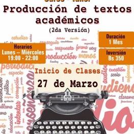 Curso: Producción de Textos Académicos